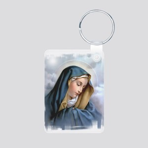 Our Lady of Sorrows Aluminum Photo Keychain