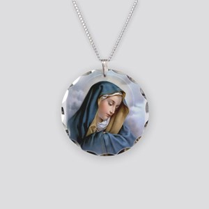 Our Lady of Sorrows Necklace Circle Charm