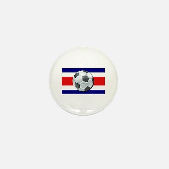 Costa Rica Soccer Mini Button