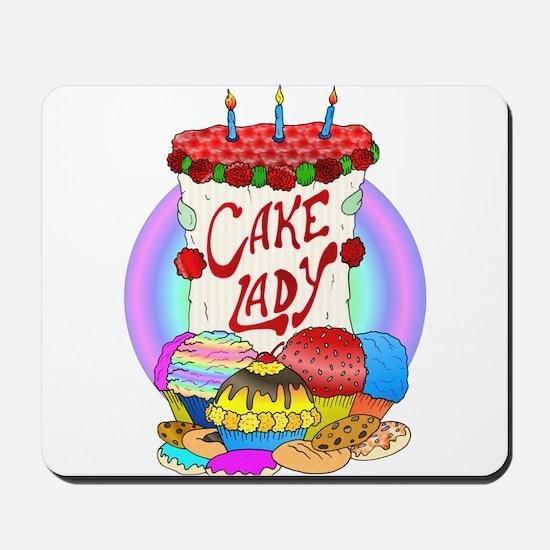 Cake Lady Baked Goods Mousepad