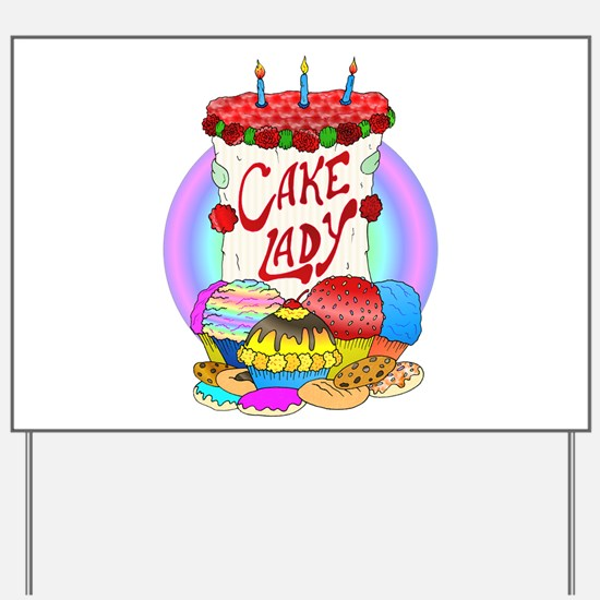 Cake Lady Baked Goods Yard Sign