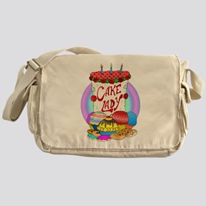 Cake Lady Baked Goods Messenger Bag