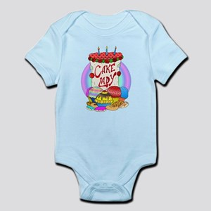 Cake Lady Baked Goods Infant Bodysuit