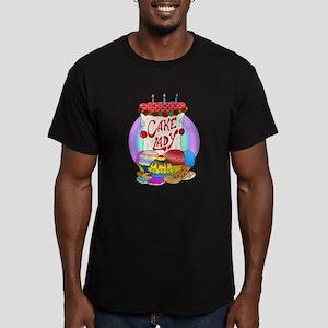 Cake Lady Baked Goods Men's Fitted T-Shirt (dark)