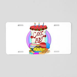 Cake Lady Baked Goods Aluminum License Plate
