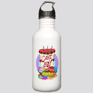 Cake Lady Baked Goods Stainless Water Bottle 1.0L