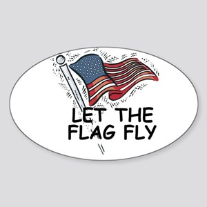 Patriotic American Flag Sticker (Oval)