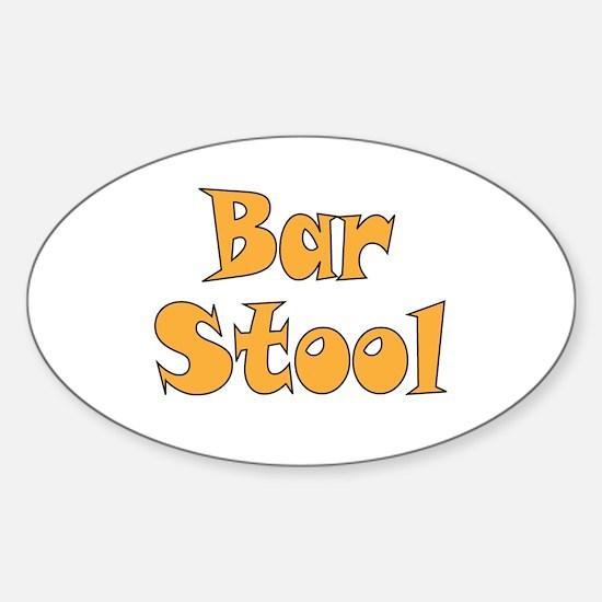Bar Stool Sticker (Oval)