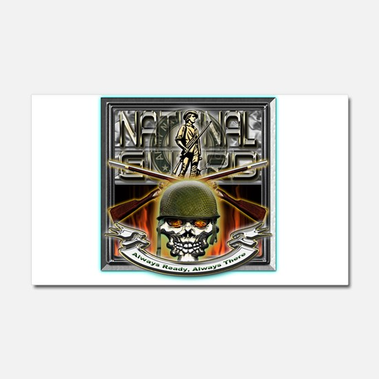 Army National Guard Skull and Car Magnet 20 x 12