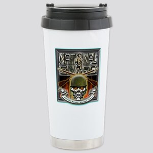 Army National Guard Skull and Stainless Steel Trav
