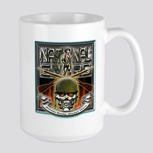 Army National Guard Skull and Large Mug