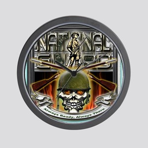 Army National Guard Skull and Wall Clock