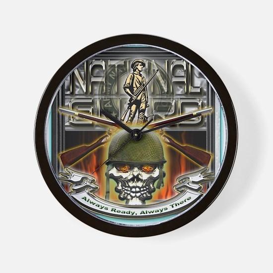 Army National Guard Skull and Wall Clock