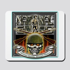 Army National Guard Skull and Mousepad