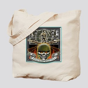 Army National Guard Skull and Tote Bag