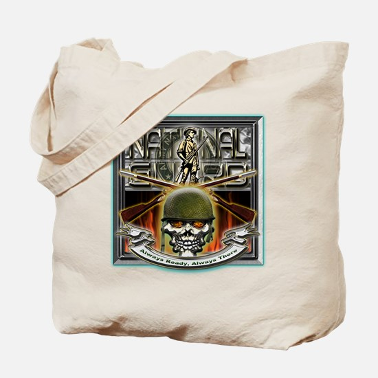 Army National Guard Skull and Tote Bag