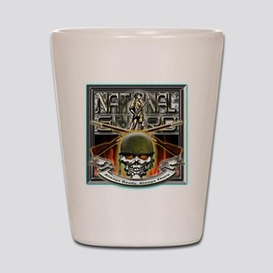 Army National Guard Skull and Shot Glass