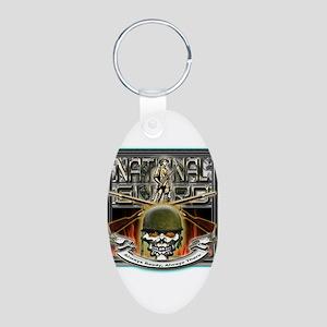 Army National Guard Skull and Aluminum Oval Keycha