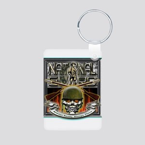 Army National Guard Skull and Aluminum Photo Keych