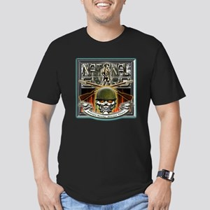 Army National Guard Skull and Men's Fitted T-Shirt