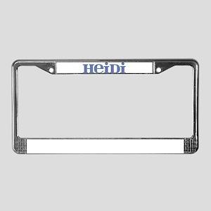 Heidi Blue Glass License Plate Frame