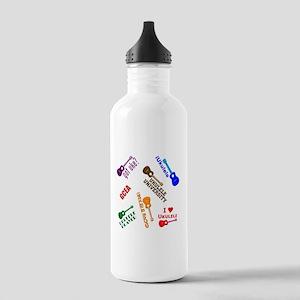 cliché ukulele Stainless Water Bottle 1.0L