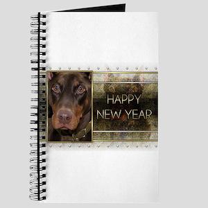 New Year - Golden Elegance - Dobie Journal