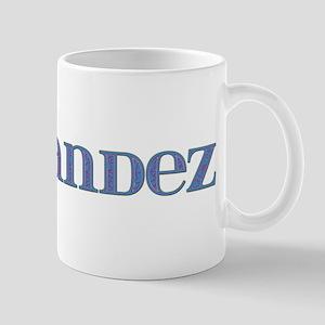 Hernandez Blue Glass Mug