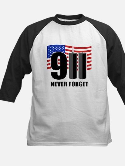 9-11 Never Forget Kids Baseball Jersey
