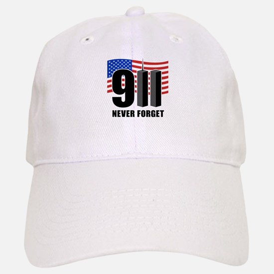 9-11 Never Forget Baseball Baseball Cap