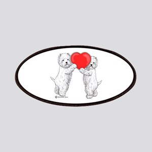 Westies with Heart Patches