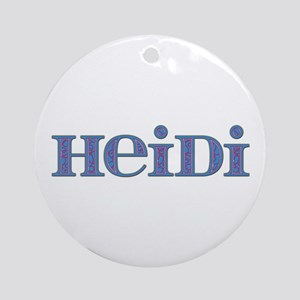 Heidi Blue Glass Round Ornament