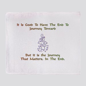 The Journey That Matters Gift Throw Blanket