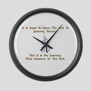 The Journey That Matters Gift Large Wall Clock