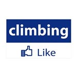 Like Climbing 35x21 Wall Decal