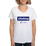 Like Climbing Women's V-Neck T-Shirt