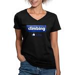 Like Climbing Women's V-Neck Dark T-Shirt