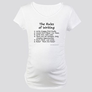 The Rules of Writing Maternity T-Shirt