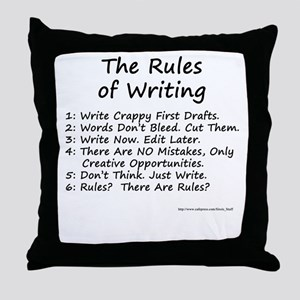 The Rules of Writing Throw Pillow
