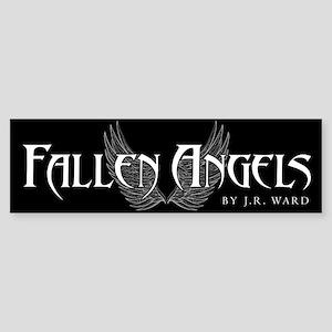Fallen Angels Black Bumper Sticker