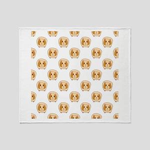 Guinea Pig Pattern Throw Blanket
