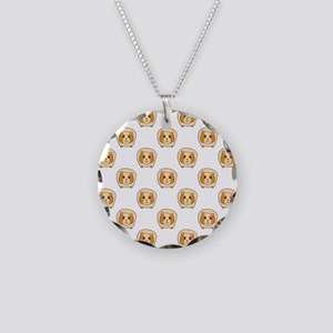 Guinea Pig Pattern Necklace Circle Charm
