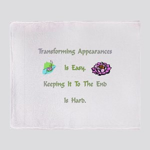 Transforming Appearances Gift Throw Blanket