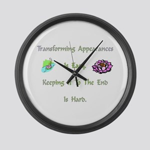 Transforming Appearances Gift Large Wall Clock