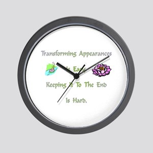 Transforming Appearances Gift Wall Clock