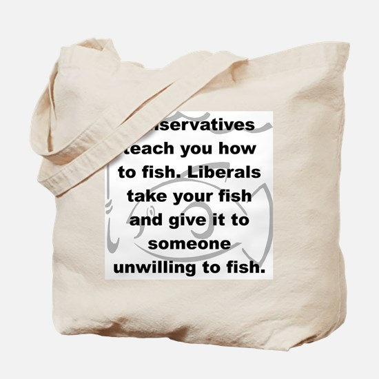 CONSERVATIVES TEACH YOU HOW TO FISH LIBERALS TAKE