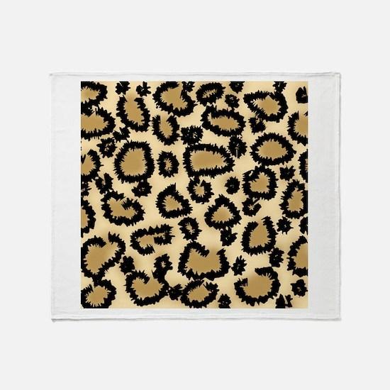 Leopard Print Pattern Throw Blanket