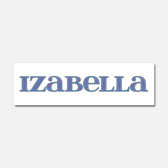Izabella Blue Glass 10x3 Car Magnet