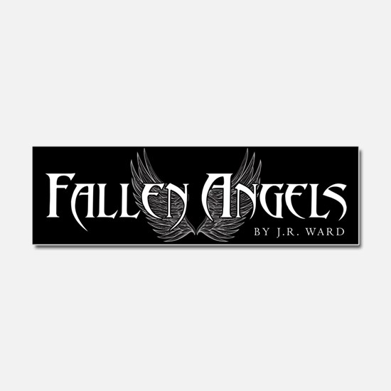 Fallen Angels Black Car Magnet