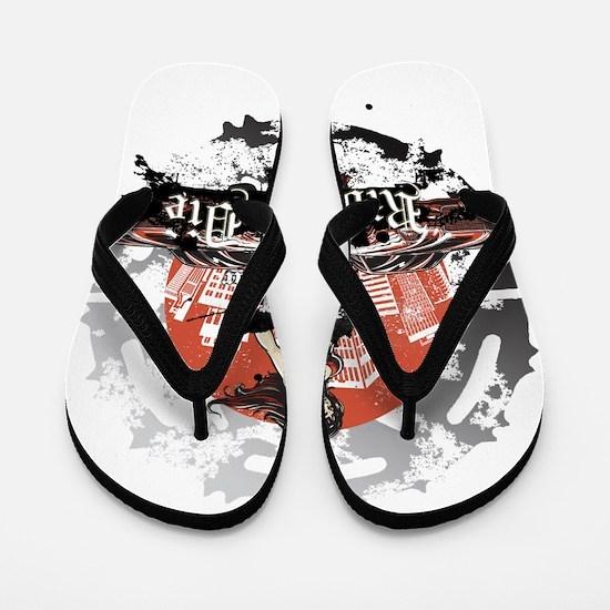 Ride or Die (Silver Logo) Flip Flops